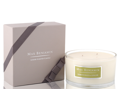 Max Benjamin Свеча Lemongrass & Ginger 3 Wick